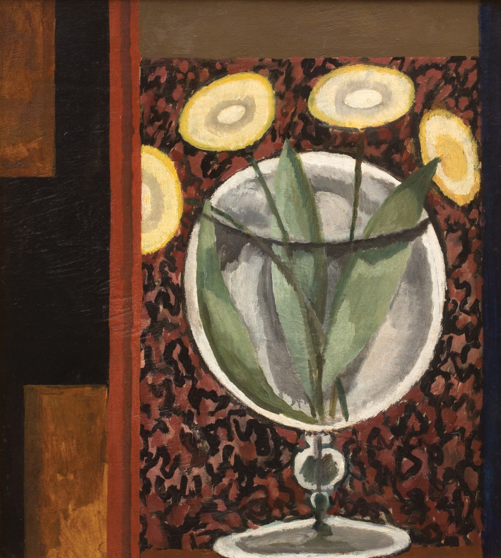 Duncan Grant, Flowers in a Glass Vase, 1917-18 c.