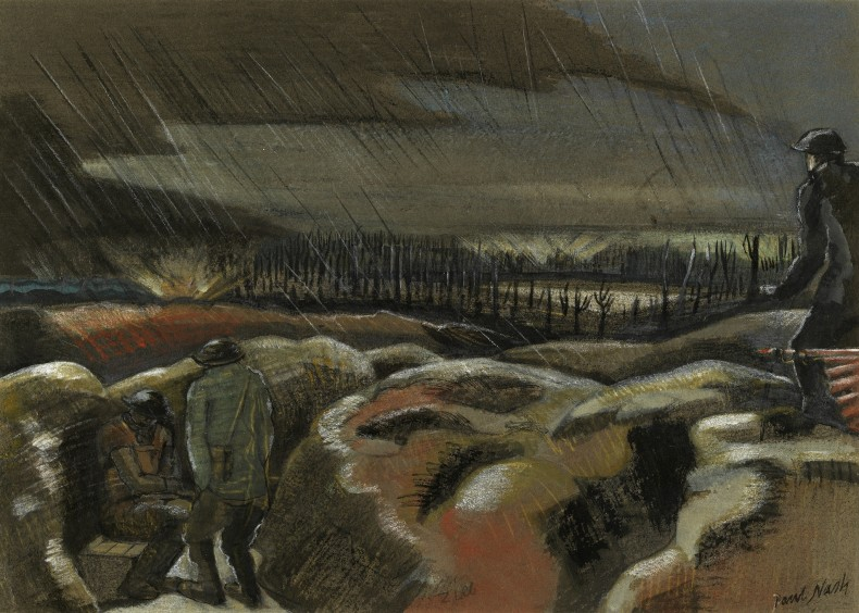 Paul Nash, Shellburst, Zillebeke, 1917