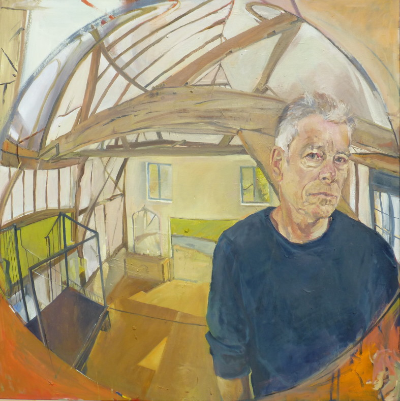 Peter McNiven, Self Portrait in the Barn (convex mirror), 2017