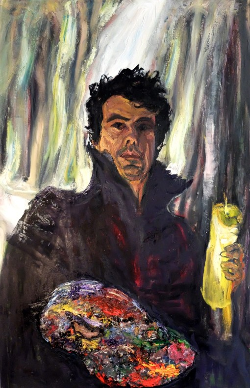 Rodolfo Villaplana, Self Portrait with Palette and Candle, 2017