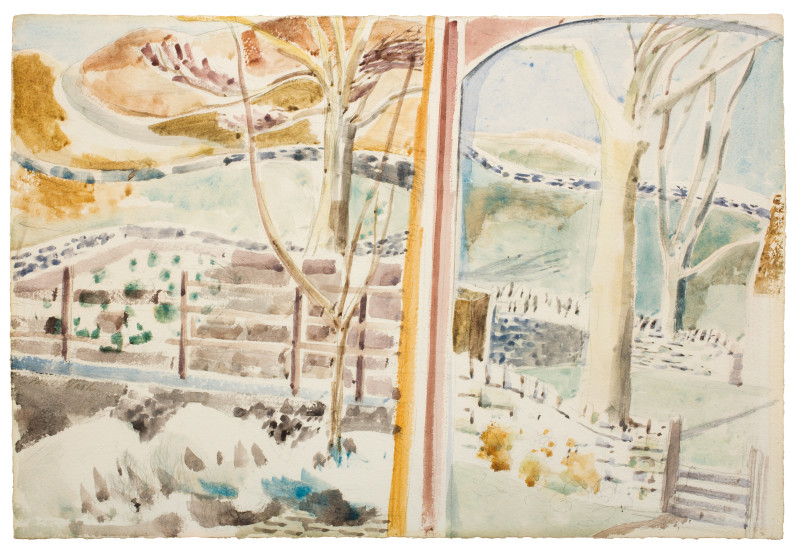 Paul Nash, The Landscape Through the Window and Through the Looking Glass, 1945