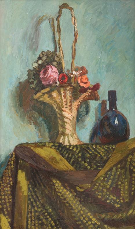 Vanessa Bell, Basket of Flowers, 1933