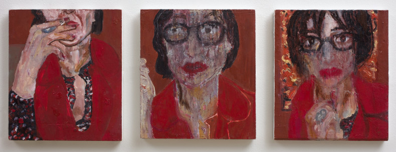 Vanessa Mitter, Self-Portrait in Red, 2017