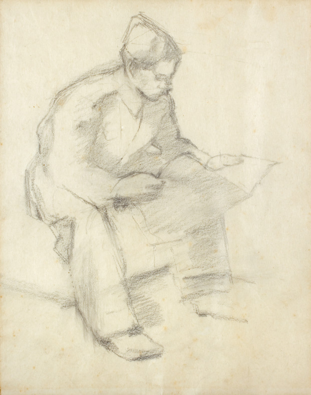 William Coldstream, Study of Soldier Reading , 1940