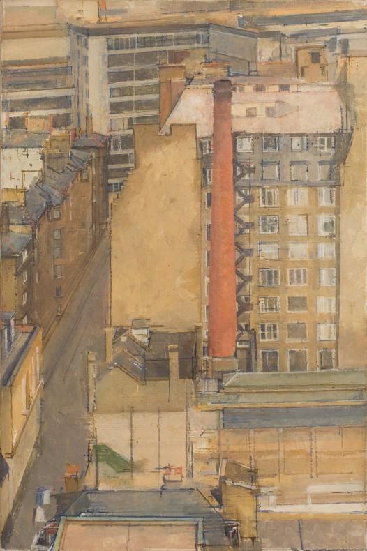 William Coldstream, The Chimney, Westminster Baths V, 1976-7