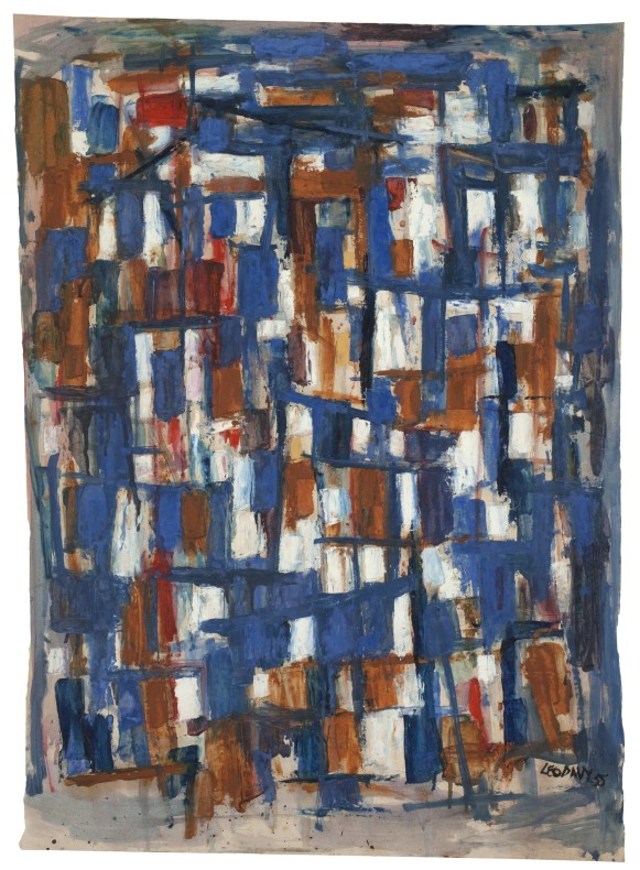 Leo Davy, Blue Abstract, 1955