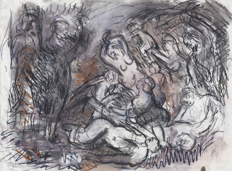 Leon Kossoff, From Rubens 'The Brazen Serpent', 1995-96