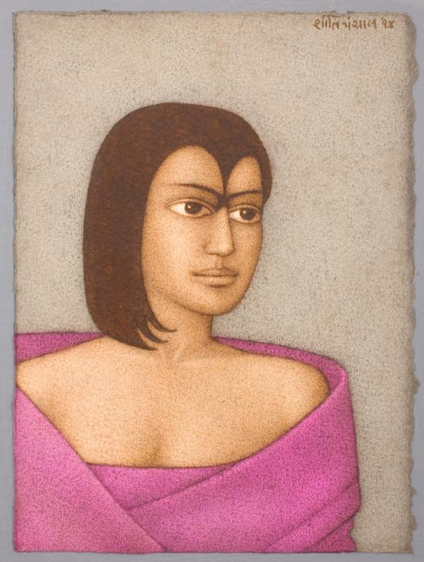 Shanti Panchal, Purple Shawl, 2014