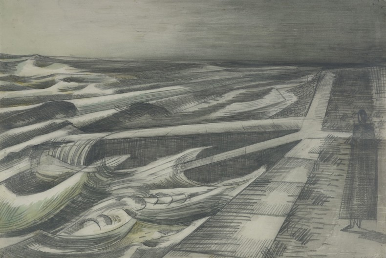 Paul Nash, Night Tide, Dymchurch, 1922