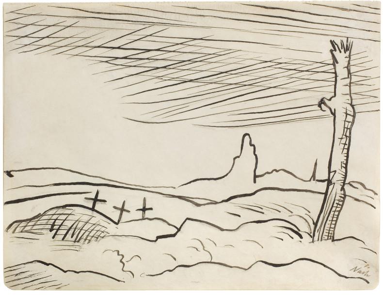 Paul Nash, Battlefield, 1917