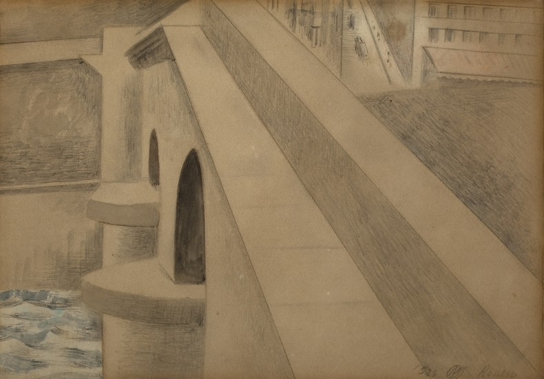 Paul Nash, Rouen, 1928