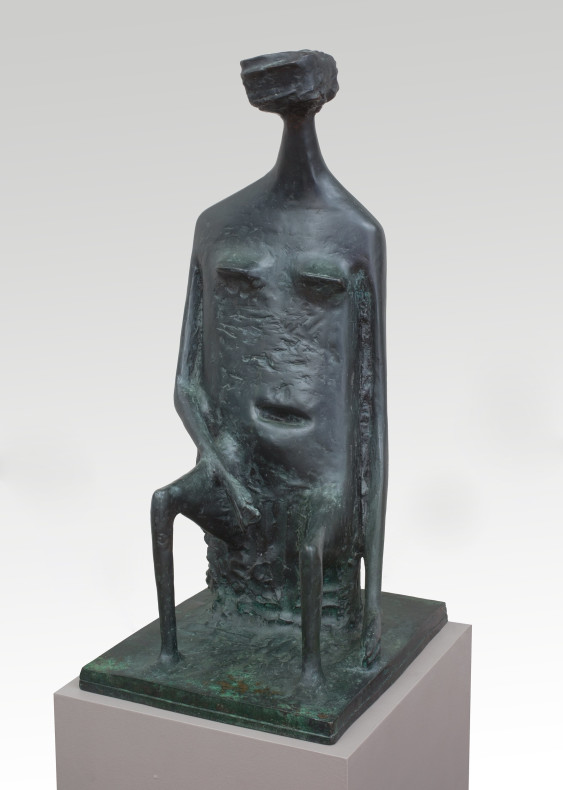 Kenneth Armitage, Seated Woman with Square Head (double base), 1955 (conceived) 1986 (cast)