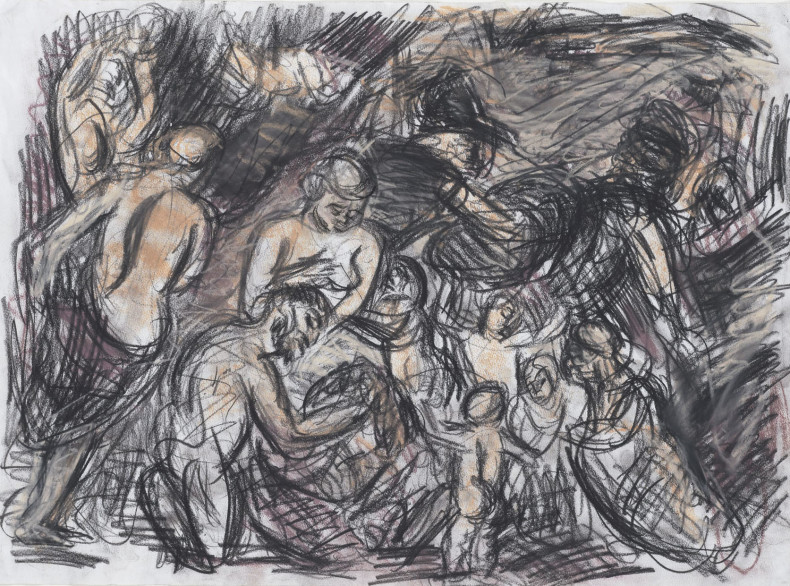 Leon Kossoff, From Rubens 'Minerva Protects Pax from Mars (Peace and War), 1995-96
