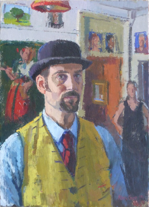 Alex Cree, Self-Portrait with Bowler Hat  £ 4,000