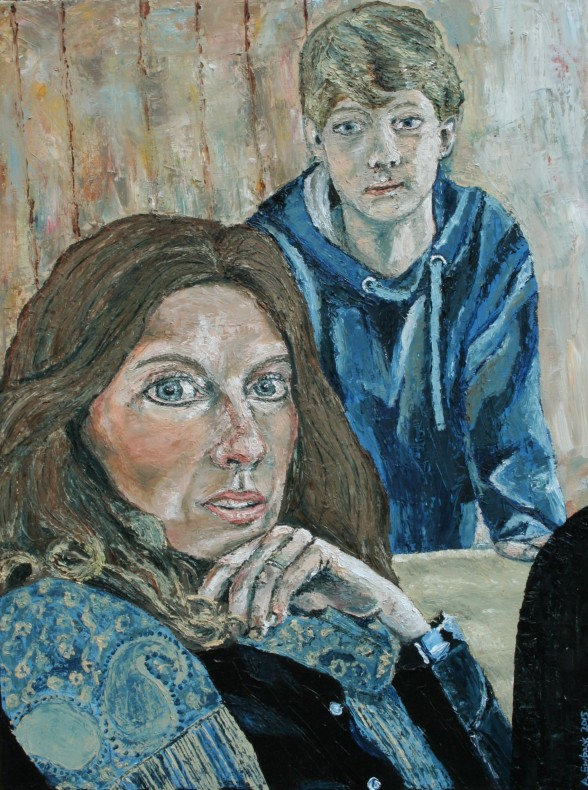 Amanda Ewbank, Self-Portrait with Youngest Son  £ 1,600