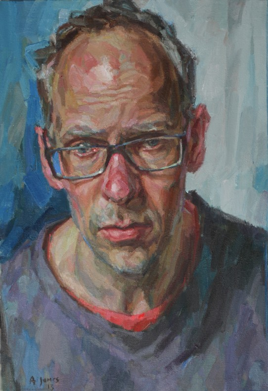 Andrew James, Self-Portrait with Black Fleece  £ 8,000