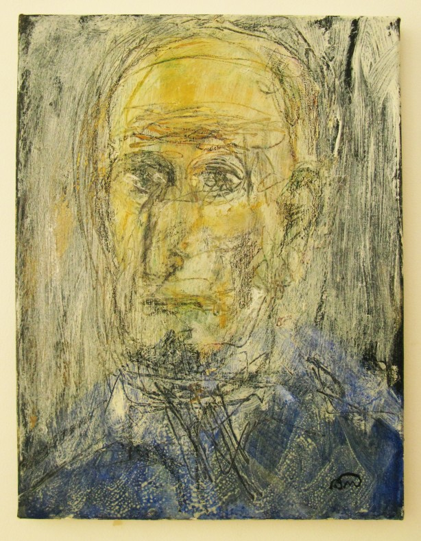 Bruno Manini, Self-Portrait in a Blue Shirt  £ 600