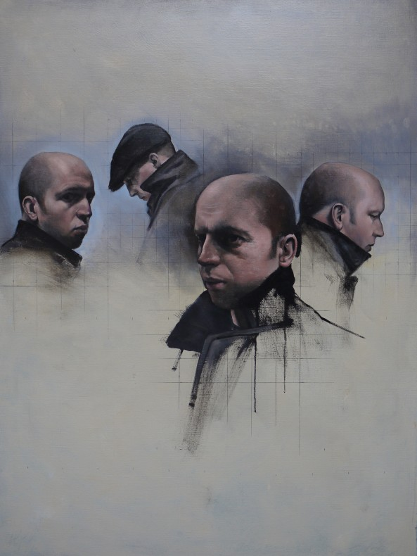 Christopher Thompson, Four Studies for a Self-Portrait  SOLD