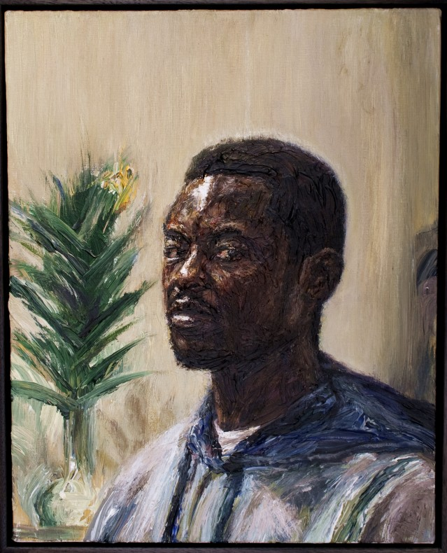 Edward Ofosu, Self-Portrait with a Flower  £ 3,400