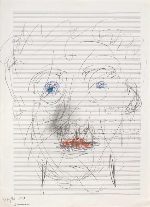 Harrison Birtwistle, Self-Portrait, 2017