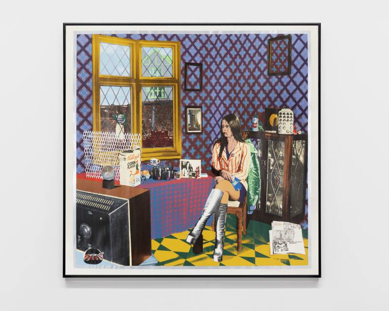 Tim Mara Portrait of Astrid, 1973 Silkscreen 92 x 92 cm   36 1/4 x 36 1/4 in Enquire
