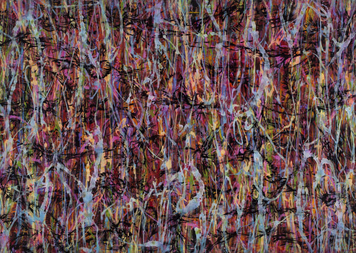 Zoon-Dreamscape No. 1208, 2012, ink, mineral pigment and acrylic on silk, 280 x 200 cm