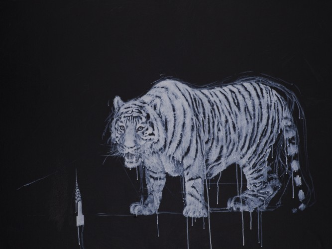 <div class=&#34;artist&#34;><strong>Ye Linghan</strong></div> (b. 1985) <div class=&#34;title&#34;><em>Gold Circle Tiger 10</em>, 2014</div> <div class=&#34;signed_and_dated&#34;>Signed and dated on the reverse</div> <div class=&#34;medium&#34;>Acrylic on canvas</div> <div class=&#34;dimensions&#34;>86 x 120 cm; (33 7/8 x 47 1/4 in.)</div>