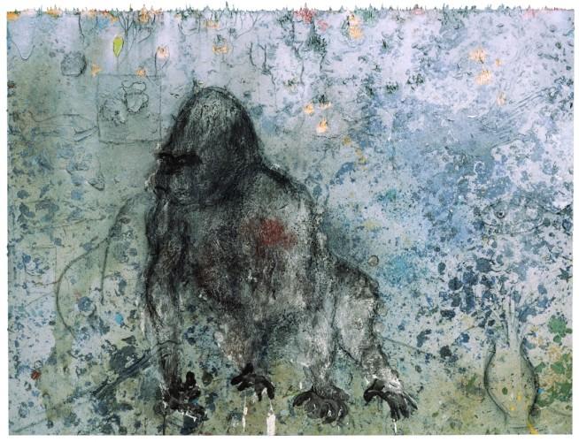 <div class=&#34;artist&#34;><strong>Miquel Barceló</strong></div> (b. 1957) <div class=&#34;title&#34;><em>Atelier avec Gorille</em>, 2008</div> <div class=&#34;medium&#34;>Mixed media on canvas</div> <div class=&#34;dimensions&#34;>308 x 400 cm; (121 1/4 x 157 1/2 in.)</div>