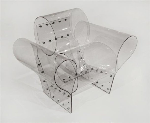 <div class=&#34;artist&#34;><strong>Ron Arad</strong></div> (b. 1951) <div class=&#34;title&#34;><em>Well Transparent Chair</em>, 2010</div> <div class=&#34;medium&#34;>Polycarbonate and wing nuts</div> <div class=&#34;dimensions&#34;>80.01 x 80.01 x 100.01 cm; (31 1/2 x 31 1/2 x 39 3/8 in.)</div> <div class=&#34;edition_details&#34;>Edition of 100</div>
