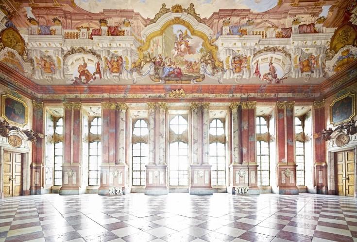 <div class=&#34;artist&#34;><strong>Candida Höfer</strong></div> (b. 1944) <div class=&#34;title&#34;><em>Augustiner Chorherrenstift Sankt Florian I 2014</em></div> <div class=&#34;medium&#34;>C-print</div> <div class=&#34;dimensions&#34;>Height 180 cm; (height 70 7/8 in.)</div> <div class=&#34;edition_details&#34;>Edition of 6</div>