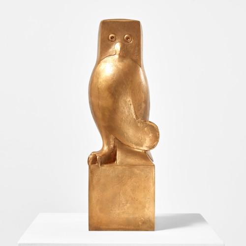 <div class=&#34;artist&#34;><strong>François-Xavier Lalanne</strong></div> (1927 - 2008) <div class=&#34;title&#34;><em>Hibou de Meryll</em>, 1999/2006</div> <div class=&#34;signed_and_dated&#34;>Signed, dated and numbered</div> <div class=&#34;medium&#34;>Bronze</div> <div class=&#34;dimensions&#34;>51.5 x 17.2 x 16.8 cm; (20 1/4 x 6 3/4 x 6 5/8 in.)</div> <div class=&#34;edition_details&#34;>Edition of 8 + 4 AP (#8/8 C)</div>