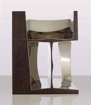 <div class=&#34;artist&#34;><strong>Ron Arad</strong></div> (b. 1951) <div class=&#34;title&#34;><em>2RNOT</em>, 1992</div> <div class=&#34;signed_and_dated&#34;>Signed 'Ron Arad' and numbered '15/20'</div> <div class=&#34;medium&#34;>Patinated and polished stainless steel</div> <div class=&#34;dimensions&#34;>76.2 x 61 x 61 cm; (30 x 24 1/8 x 24 1/8 in.)</div> <div class=&#34;edition_details&#34;>Edition of 20</div>