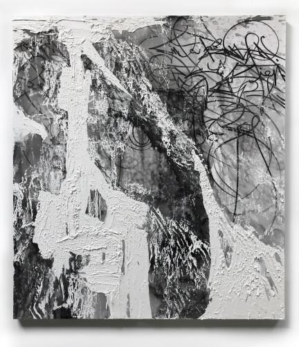 <div class=&#34;artist&#34;><strong>José Parlá</strong></div> (b. 1973) <div class=&#34;title&#34;><em>Turbulent Cosmos</em>, 2018</div> <div class=&#34;medium&#34;>Acrylic and plaster on canvas</div> <div class=&#34;dimensions&#34;>208.3 x 182.9 cm; (82 x 72 in.)</div>