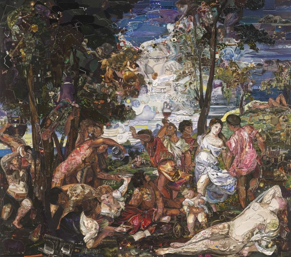 <div class=&#34;artist&#34;><strong>Vik Muniz</strong></div> (b. 1961) <div class=&#34;title&#34;><em>The Prado Museum, Bacchanal of the Andrians, after Titian (Repro)</em>, 2015</div> <div class=&#34;medium&#34;>Digital C-print</div> <div class=&#34;dimensions&#34;>101.6 x 114.9 cm; (40 x 45 1/4 in.)</div> <div class=&#34;edition_details&#34;>Edition of 6 + 4 AP</div>