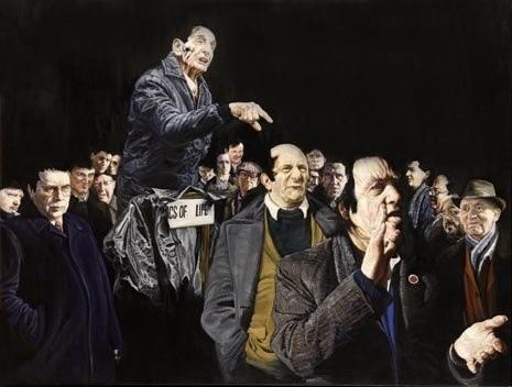 <div class=&#34;artist&#34;><strong>Clare Shenstone</strong></div> (b. 1948) <div class=&#34;title&#34;><em>Speaker's Corner</em>, 2005</div> <div class=&#34;medium&#34;>Oil on canvas</div> <div class=&#34;dimensions&#34;>127 x 166.4 cm; (50 x 65 1/2 in.)</div>