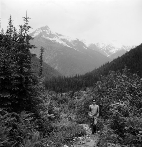 <div class=&#34;artist&#34;><strong>Tseng Kwong Chi</strong></div> (1950 - 1990) <div class=&#34;title&#34;><em>Rockies, Canada (Forest Trail)</em>, 1986</div> <div class=&#34;medium&#34;>Silver gelatin print</div> <div class=&#34;dimensions&#34;>paper size: 50.8 x 40.6 cm; (20 x 16 in.); image size: 38.1 x 38.1 cm; (15 x 15 in.)</div> <div class=&#34;edition_details&#34;>Edition of 25 + 5 AP</div>