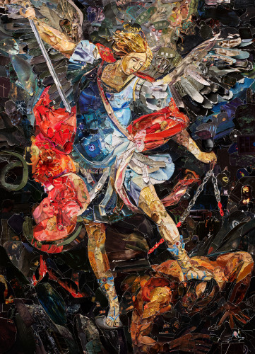 "<div class=""artist""><strong>Vik Muniz</strong></div> (b. 1961) <div class=""title""><em>Archangel Michael, after Darko Topalski (Imaginaria)</em>, 2018</div> <div class=""medium"">Archival inkjet print </div> <div class=""dimensions"">207.8 x 150.1 cm; (81 3/4 x 59 1/8 in.)</div> <div class=""edition_details"">Edition of 6 + 4 AP</div>"