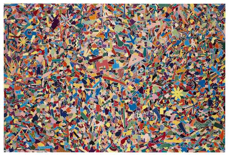 <div class=&#34;artist&#34;><strong>Alighiero Boetti</strong></div> (1940 - 1994) <div class=&#34;title&#34;><em>Tutto</em>, 1988</div> <div class=&#34;signed_and_dated&#34;>Signed, dated and inscribed on the reverse</div> <div class=&#34;medium&#34;>Embroidery</div> <div class=&#34;dimensions&#34;>93 x 138 cm; (36 5/8 x 54 3/8 in.)</div>