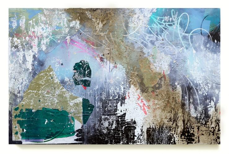 <div class=&#34;artist&#34;><strong>José Parlá</strong></div> (b. 1973) <div class=&#34;title&#34;><em>Hoyt-Schemerhorn, Brooklyn</em>, 2017</div> <div class=&#34;medium&#34;>Acrylic, collage, ink and plaster on canvas </div> <div class=&#34;dimensions&#34;>122 x 183 cm; (48 1/8 x 72 1/8 in.)</div>