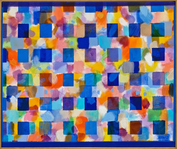 <div class=&#34;artist&#34;><strong>Heinz Mack</strong></div> (b. 1931) <div class=&#34;title&#34;><em>Ohne Titel (Chromatische Konstellation) [Untitled (Chromatic Constellation)]</em>, 2013</div> <div class=&#34;signed_and_dated&#34;>Signed and dated 'mack 13'; signed and dated 'mack 13' on the reverse</div> <div class=&#34;medium&#34;>Acrylic on canvas</div> <div class=&#34;dimensions&#34;>77 x 91 cm; (30 1/4 x 35 7/8 in.)</div>