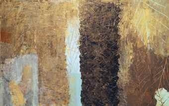 <div class=&#34;artist&#34;><strong>Nabil Nahas</strong></div> (b. 1949) <div class=&#34;title&#34;>Untitled, 2006</div> <div class=&#34;medium&#34;>Acrylic and metallic paint on canvas</div> <div class=&#34;dimensions&#34;>140 x 210 cm; (55 1/8 x 82 5/8 in.)</div>