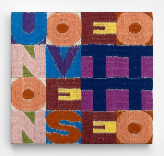 <div class=&#34;artist&#34;><strong>Alighiero Boetti</strong></div> (1940 - 1994) <div class=&#34;title&#34;><em>Uno Nove Sette Otto</em>, 1978</div> <div class=&#34;medium&#34;>Embroidery</div> <div class=&#34;dimensions&#34;>17.5 x 18.5 cm; (6 7/8 x 7 1/4 in.)</div>