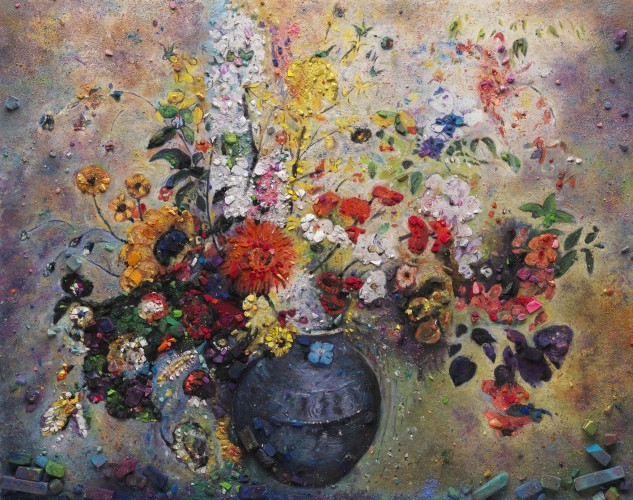 "<div class=""artist""><strong>Vik Muniz</strong></div> (b. 1961) <div class=""title""><em>Metachrome (Flowers, after Odilon Redon II)</em>, 2016</div> <div class=""medium"">Archival pigment print</div> <div class=""dimensions"">160 x 201.9 cm; (63 x 79 1/2 in.)</div> <div class=""edition_details"">Edition of 6 + 4 AP</div>"