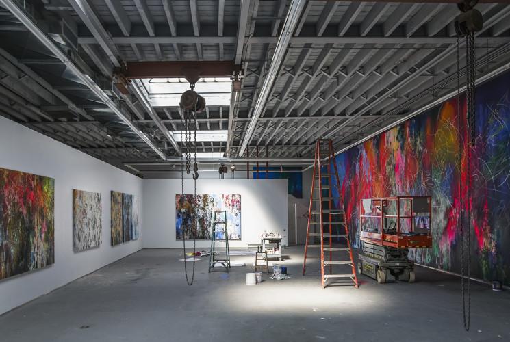 <div class=&#34;artist&#34;><strong>José Parlá</strong></div> (b. 1973) <div class=&#34;title&#34;><em>Brooklyn Studio</em></div>