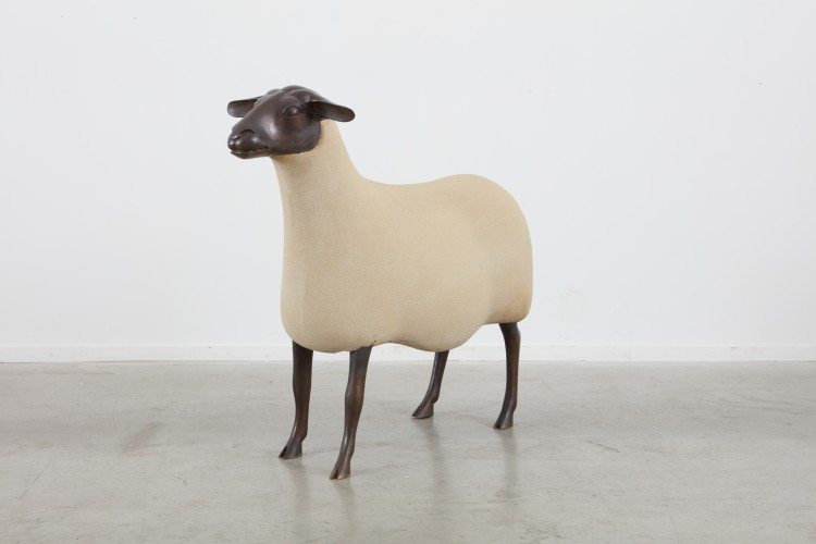 <div class=&#34;artist&#34;><strong>François-Xavier Lalanne</strong></div> (1927 - 2008) <div class=&#34;title&#34;><em>Mouton Transhumant (Brebis)</em>, 1988/1991</div> <div class=&#34;signed_and_dated&#34;>Signed and numbered</div> <div class=&#34;medium&#34;>Epoxystone and bronze</div> <div class=&#34;dimensions&#34;>90 x 104 x 39 cm; (35 3/8 x 41 x 15 3/8 in.)</div> <div class=&#34;edition_details&#34;>Edition of 250 (#4/250)</div>
