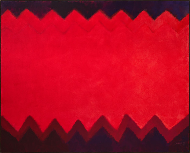 <div class=&#34;artist&#34;><strong>Heinz Mack</strong></div> (b. 1931) <div class=&#34;title&#34;><em>Feuer-Teppich (Chromatische Konstellation) [Fire-Carpet (Chromatic Constellation)]</em>, 1993</div> <div class=&#34;signed_and_dated&#34;>Signed and dated 'mack 93'; signed, titled and dated 'mack 93, Feuer-Teppich' on the reverse</div> <div class=&#34;medium&#34;>Acrylic on canvas</div> <div class=&#34;dimensions&#34;>130 x 160 cm; (51 1/8 x 63 in.)</div>