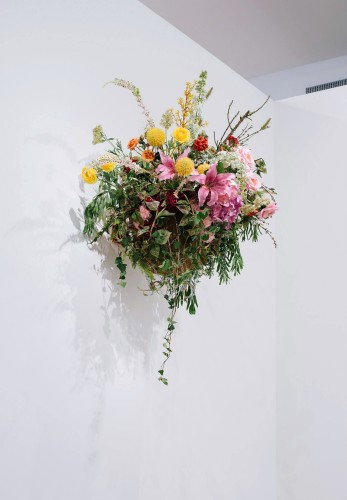 <div class=&#34;artist&#34;><strong>Awol Erizku</strong></div> (b. 1988) <div class=&#34;title&#34;><em>Dream and Nostalgia III</em>, 2015</div> <div class=&#34;medium&#34;>Standard NBA Basketball hoop with silk flower arrangements by floral designer Sarah Lineberger</div> <div class=&#34;dimensions&#34;>165.1 x 160 x 88.9 cm; (65 x 63 x 35 in.)</div> <div class=&#34;edition_details&#34;>Unique series of 8</div>