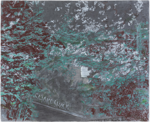 <div class=&#34;artist&#34;><strong>Ena Swansea</strong></div> (b. 1966) <div class=&#34;title&#34;><em>white sky of Manhattan</em>, 2017</div> <div class=&#34;medium&#34;>Oil and acrylic on graphite</div> <div class=&#34;dimensions&#34;>112 x 138 cm; (44 1/8 x 54 3/8 in.)</div>