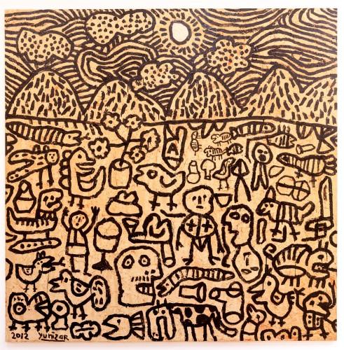 <div class=&#34;artist&#34;><strong>Yunizar</strong></div> (b. 1971) <div class=&#34;title&#34;><em>Kisah 2 (Story 2)</em>, 2012</div> <div class=&#34;medium&#34;>Acrylic on canvas</div> <div class=&#34;dimensions&#34;>200 x 200 cm; (78 3/4 x 78 3/4 in.)</div>