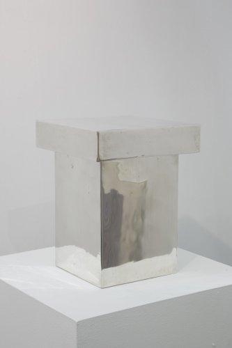 <div class=&#34;artist&#34;><strong>Not Vital</strong></div> (b. 1948) <div class=&#34;title&#34;><em>Ingeborg Bachmann</em>, 2008</div> <div class=&#34;medium&#34;>2 silver boxes</div> <div class=&#34;dimensions&#34;>6 x 25 x 25 cm; (2 3/8 x 9 7/8 x 9 7/8 in.)<br />26 x 19 x 19 cm; (10 1/4 x 7 1/2 x 7 1/2 in.)</div>